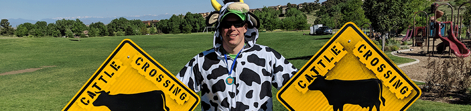 Man in Cow Costume